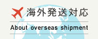 海外発送対応|About overseas shipment